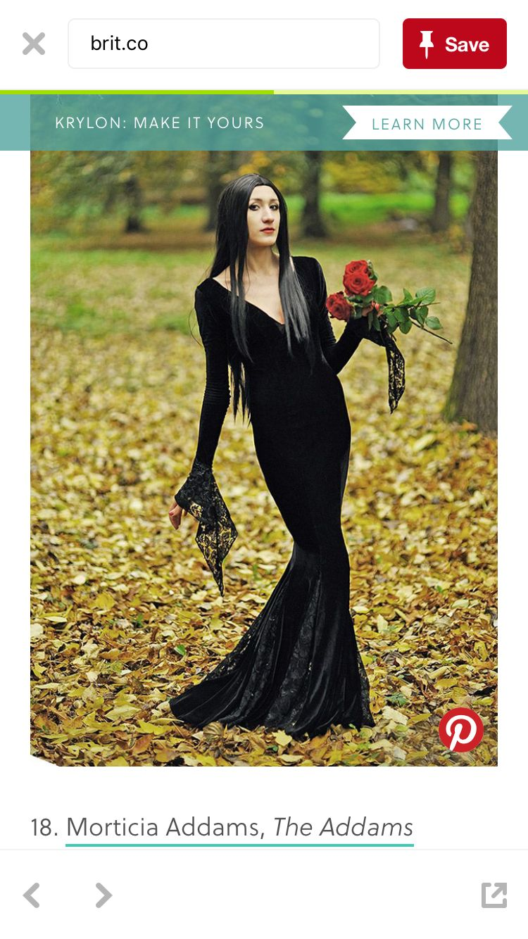 Pin By Christine Orozco On Holidays Halloween Dresses Cool Girl Costumes Long Black Dress [ 1334 x 750 Pixel ]