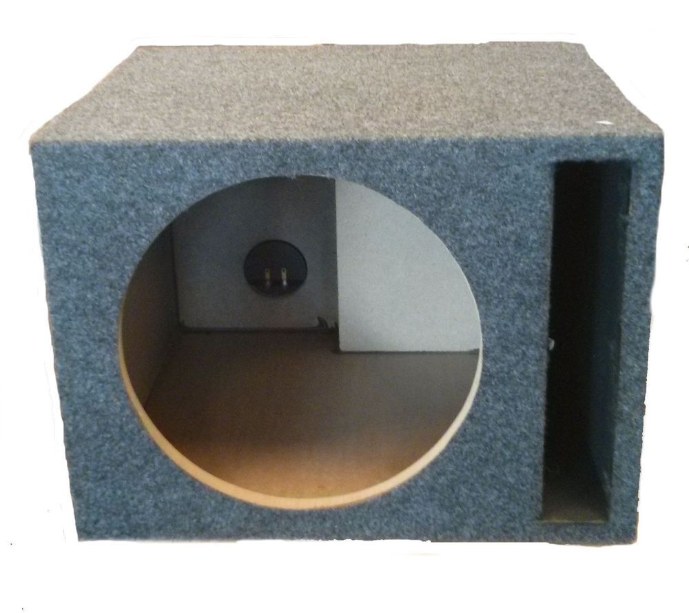 Single 6 5 Inch Ported Subwoofer Box Design Subwoofer Box Design Speaker Box Design Subwoofer Box