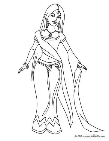 Indische Prinzessin zum Ausmalen | coloring 2 | Ausmalen