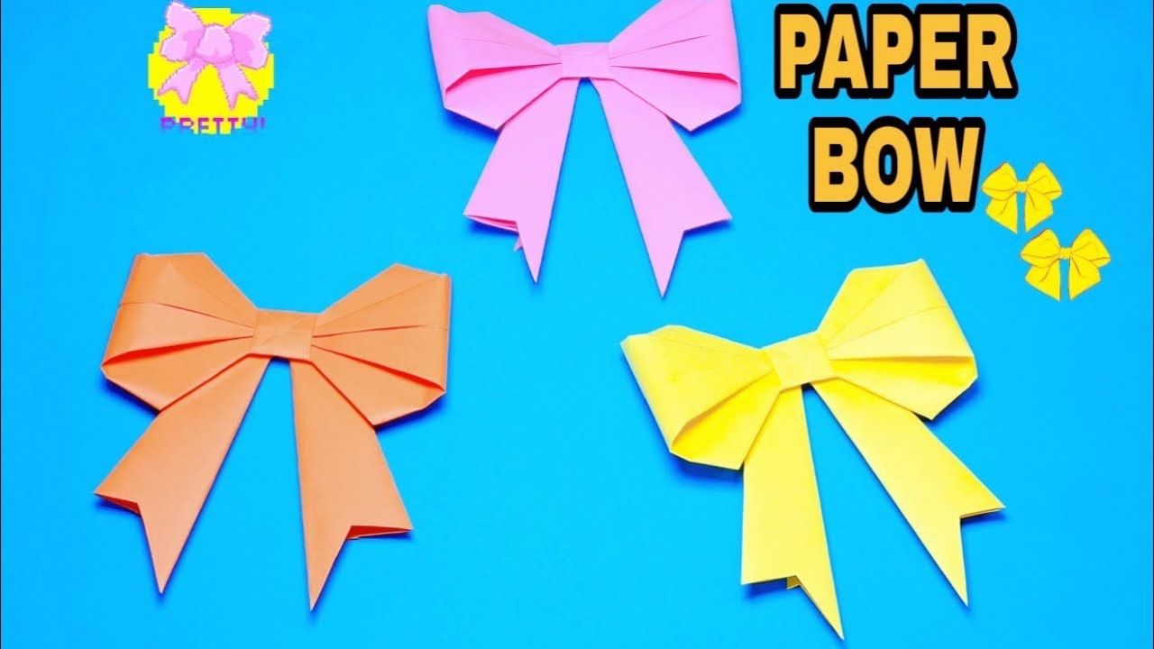 Photo of Origami Bow – How To Make Paper Bow – Tala Art And Craft