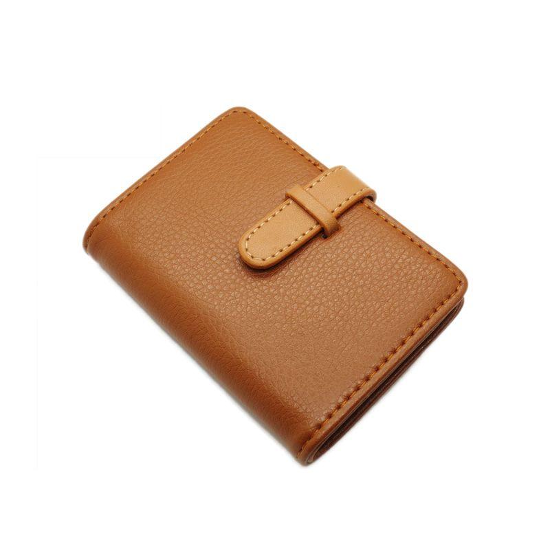 pu leather porte carte credit card wallet women female girl business ...