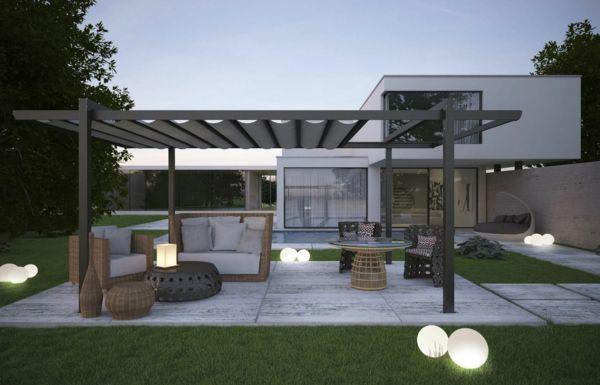 pergola gartenbeleuchtung gartenlaube konstruktion designer landschaft - Hinterhoflandschaften Designs