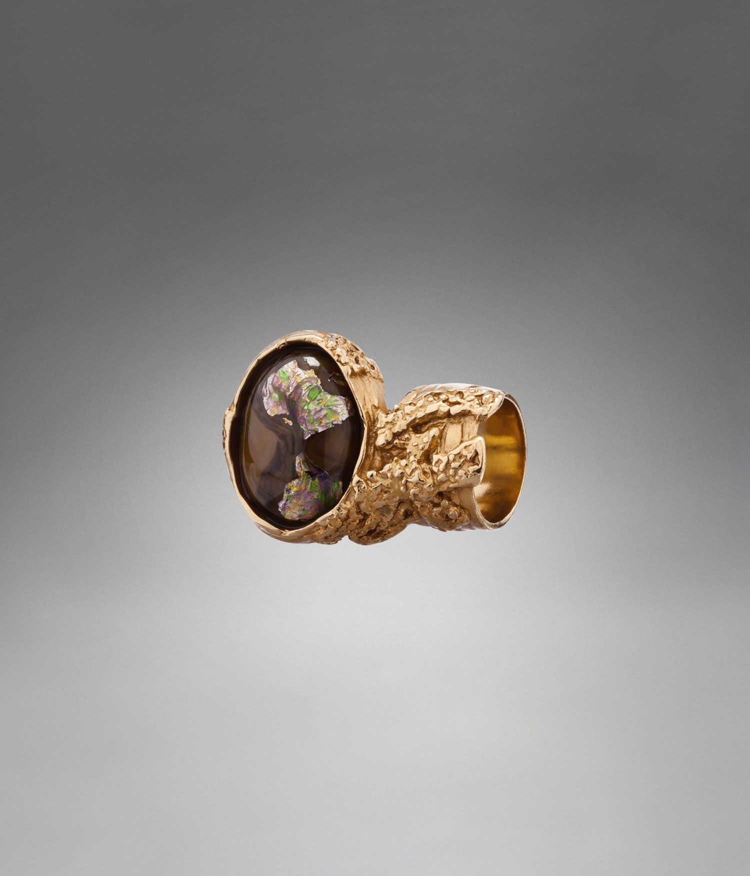 8ba1dad3744 YSL Arty Oval Ring with Brown Stone - Rings and Earrings – Jewelry – Women  – Yves Saint Laurent – www.ysl.com
