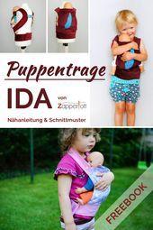 Photo of Puppentrage IDA Nähanleitung, Kreativ-FREEbook  Kostenlose Nähanleitung Puppen…