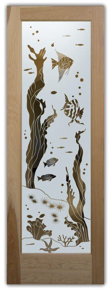 Aquarium fish door negativ interior glass doors pinterest - Interior doors with frosted glass inserts ...