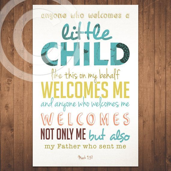 Mark   Bible Verse   Scripture   Baby Children Nursery   Quote .