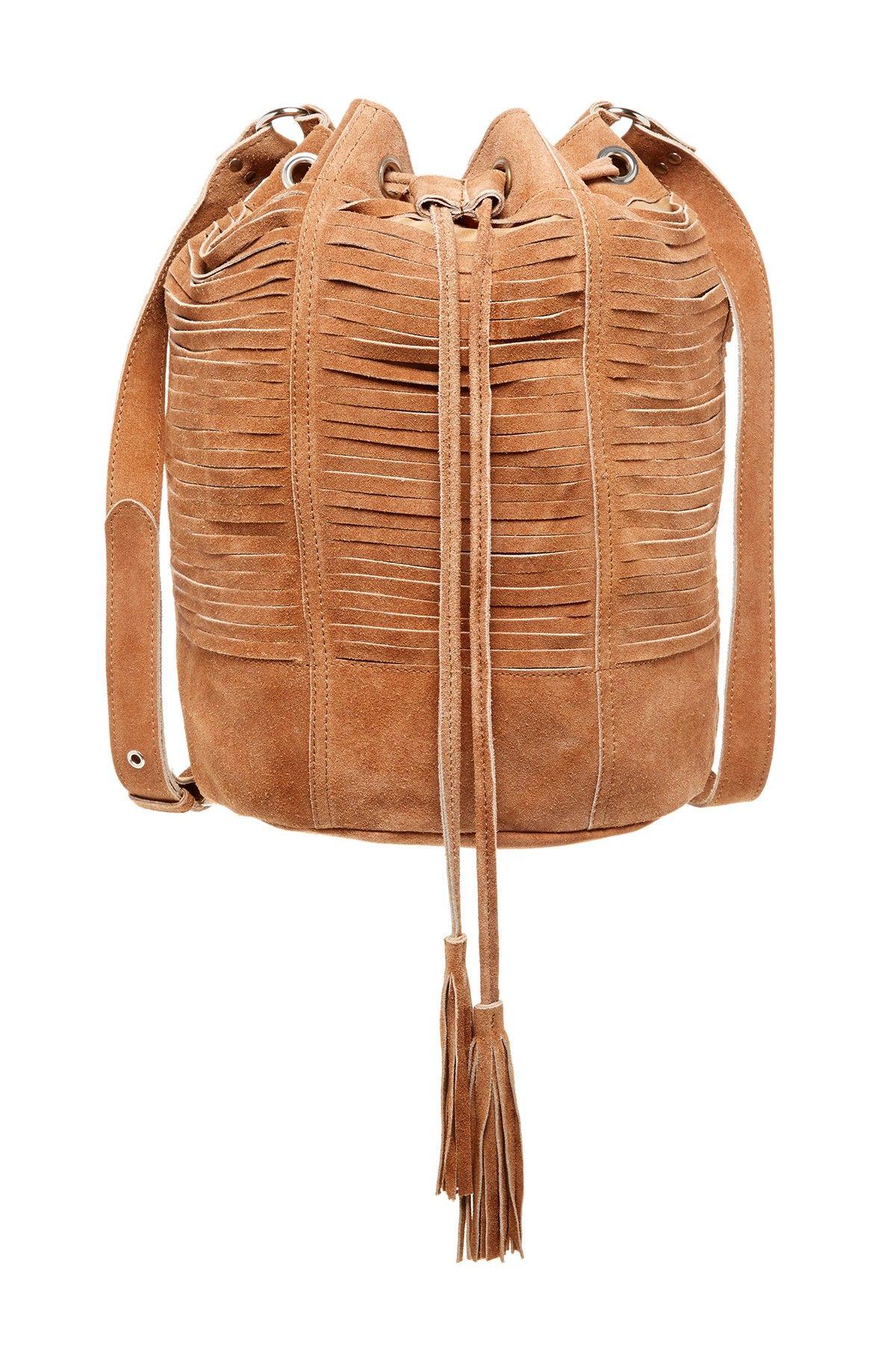 RAJ | Multi-Strap Suede Drawstring Bag