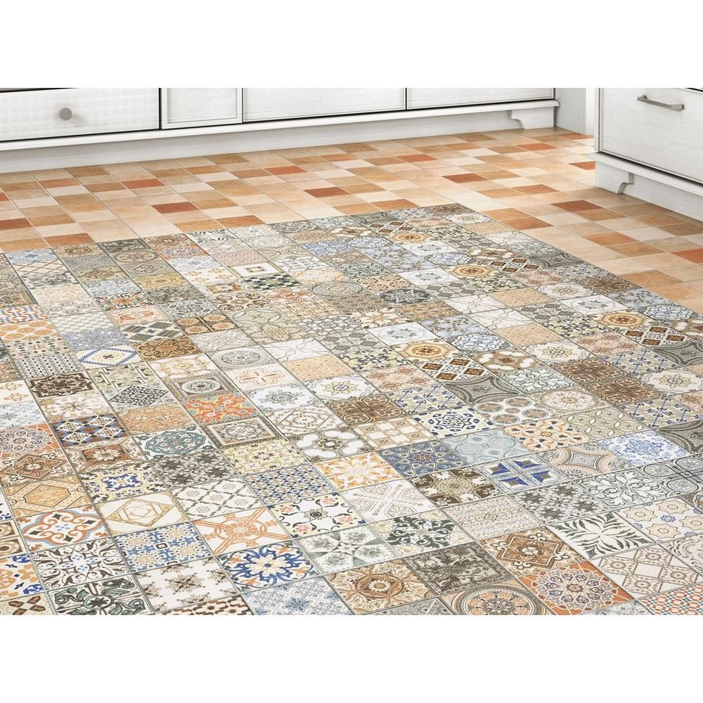 Decorative Porcelain Tile Enchanting Provenzia Decorative Mix Pattern Porcelain Tile  18Inx 18In Design Decoration
