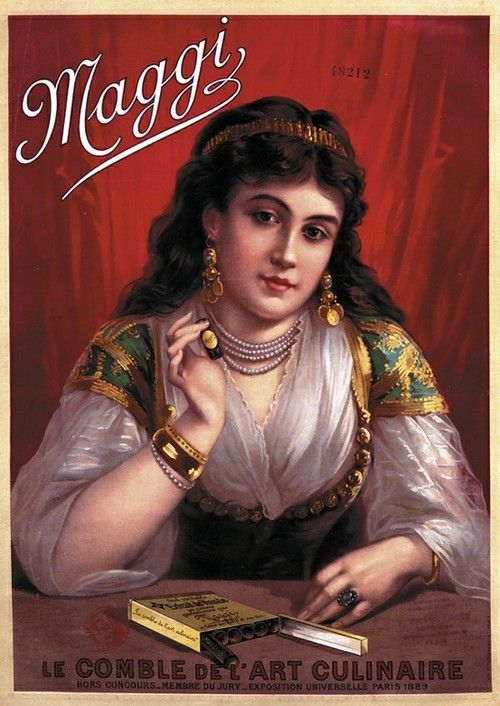 Vintage Maggi ad #german #french #gypsy
