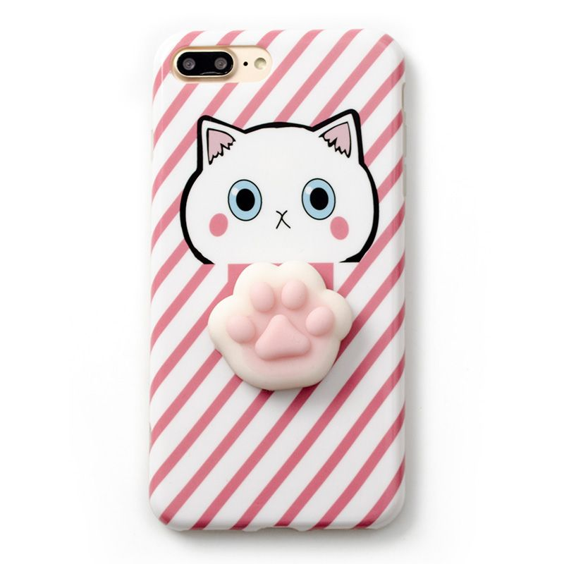 3db1f739f2 Korea Super Cute 3d Cat's Paw soft silicone phone Case Cover For Iphone 6  6S plus