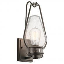Kichler 49006AVI - One Light Anvil Iron Wall Lantern