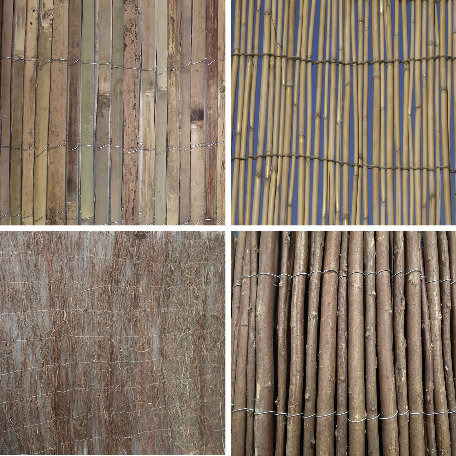 Garden divider screening border bamboo slat willow reed brushwood