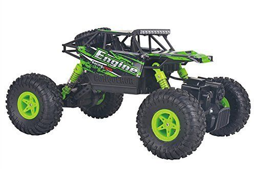 Fitiger 1/18 2.4G Electric RC Car Independent Suspension Remote Control Truck-Green