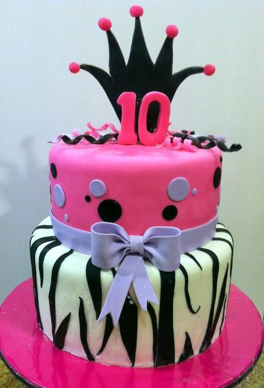 Outstanding Cake Decorating Birthday Cake For 10 Yr Old Girl With Images Personalised Birthday Cards Cominlily Jamesorg