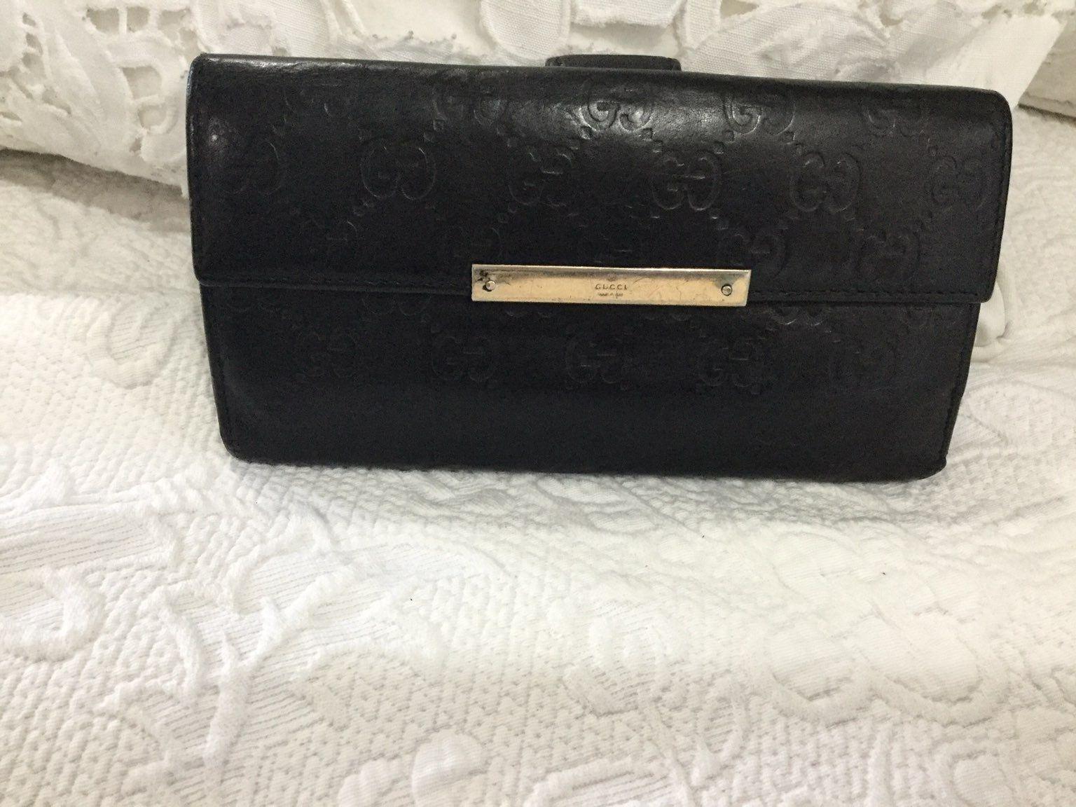 Gucci black wallet gg print gucci wallet wallet black