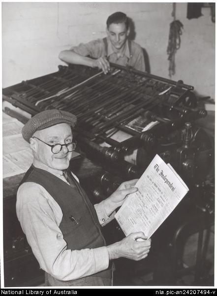 Culture Victoria - William Pettit and Ken McPhan of the Gippsland Independent and Express newspaper, Victoria 1944