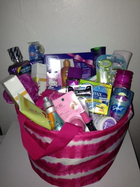 diy gift basket for college girls college gifts
