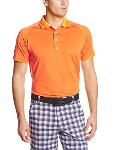 08b715e8bb48 Puma Golf NA Mens Tech Mesh Polo Vibrant Orange XLarge -- See this great  product. Note It is Affiliate Link to Amazon.