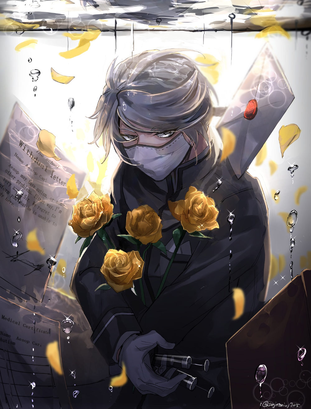 Wallpaper Aesop Carl Anime Yellow Identity Art Anime Identity