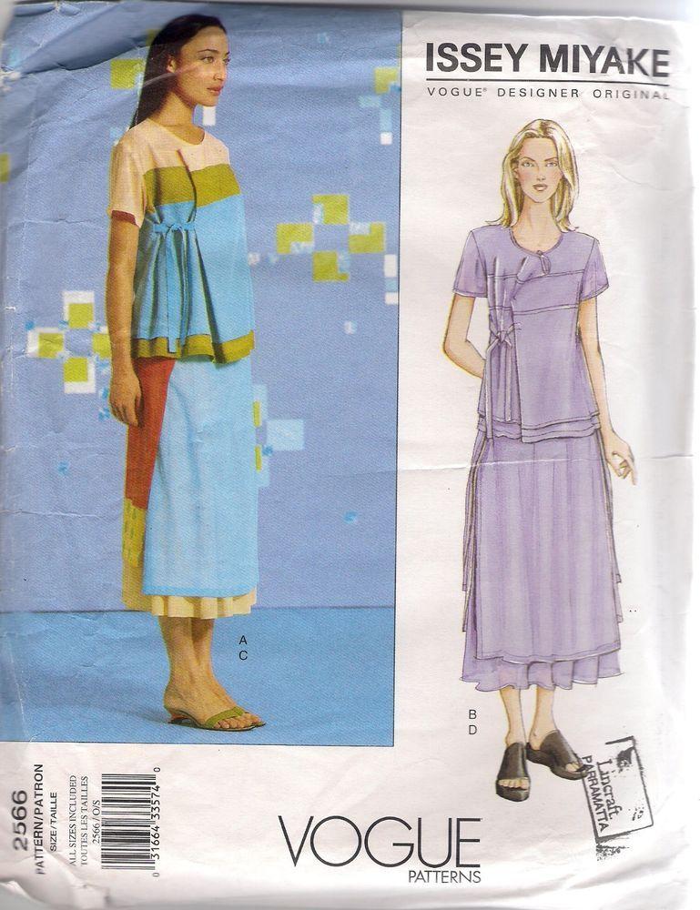 Vogue Designer Sewing Pattern 2566 Issey Miyake Top & Skirt, All ...