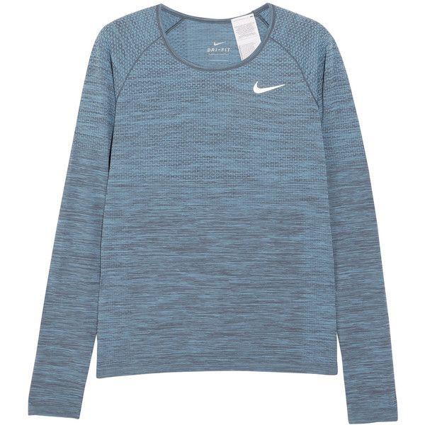 Nike Dri FIT textured jersey top (480 GTQ) ❤ liked on