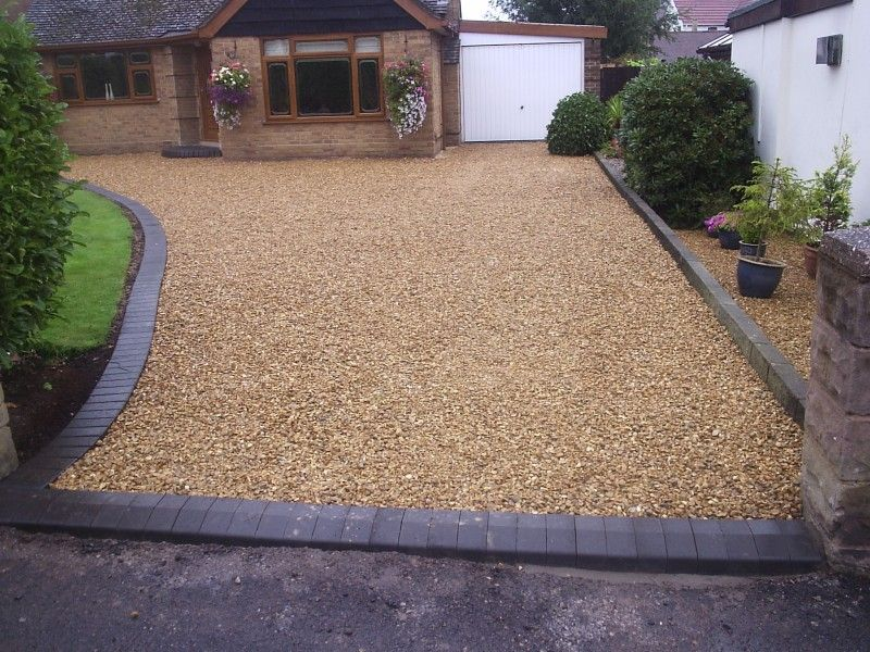 Driveway ideas gravel images google search driveways for Sloped driveway options
