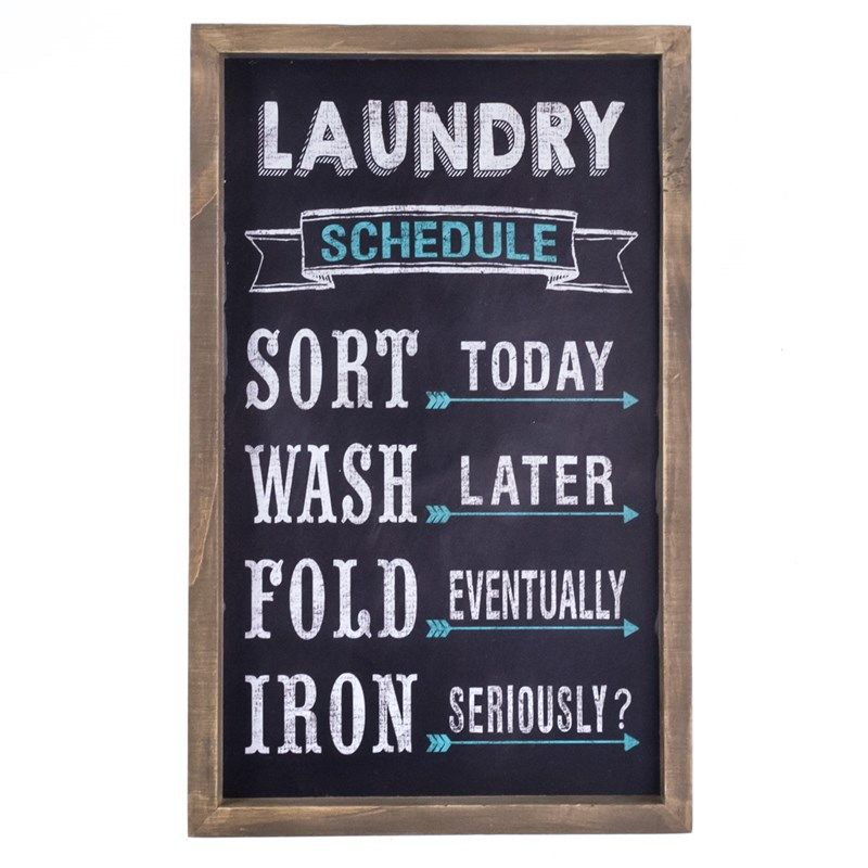 Laundry Schedule Wall Decor | Collections | Laundry Room ...