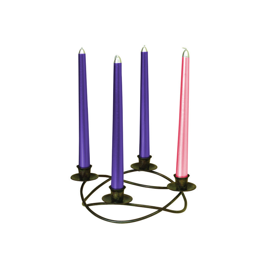 gerson rustic advent candle holder advent candles. Black Bedroom Furniture Sets. Home Design Ideas