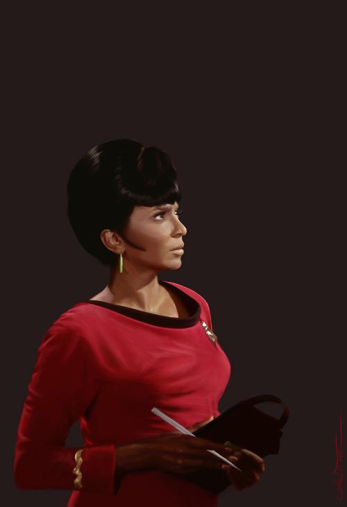 Uhura by Amanda Tolleson Digital oil paint brushes on corel