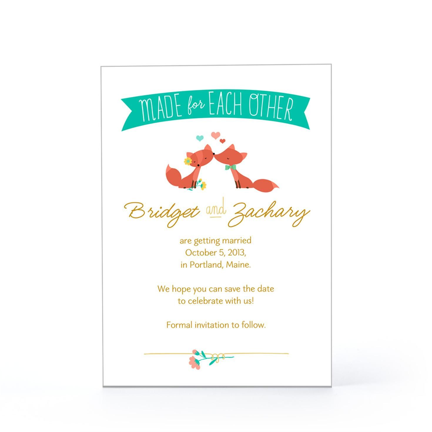 Made For Each Other Wedding Announcement Hallmark We Re