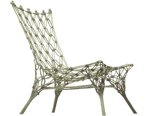 My fave chair of all time, designed by Marcel Wanders. A little edgier than our Ballard stuff but I think it would blend.