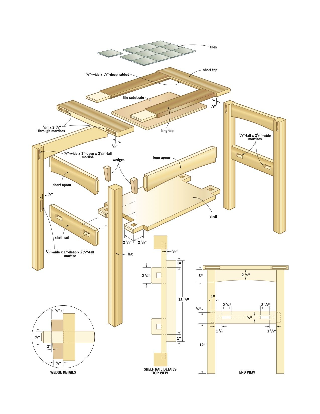 Mission Side Table Plans Work Projects And