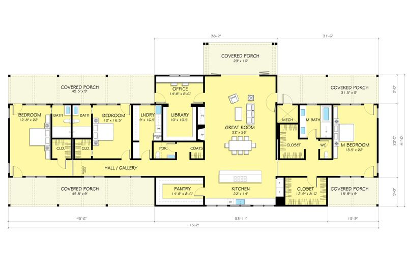 Ranch Style House Plan 3 Beds 3 5 Baths 3478 Sq Ft Plan 888 9 Ranch House Plans Ranch Style House Plans Floor Plans Ranch