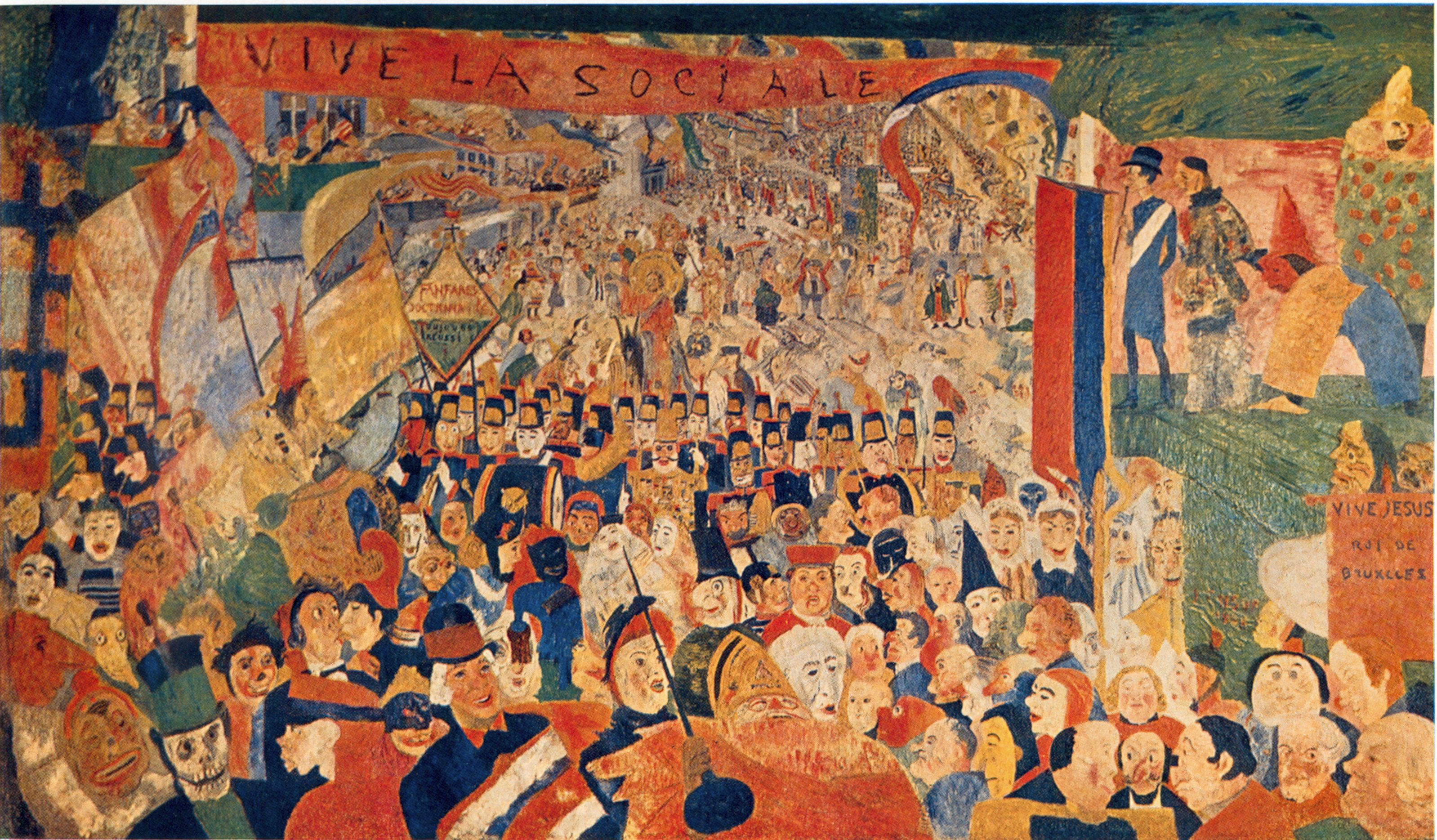 The entry of Christ into Brussels - James Ensor