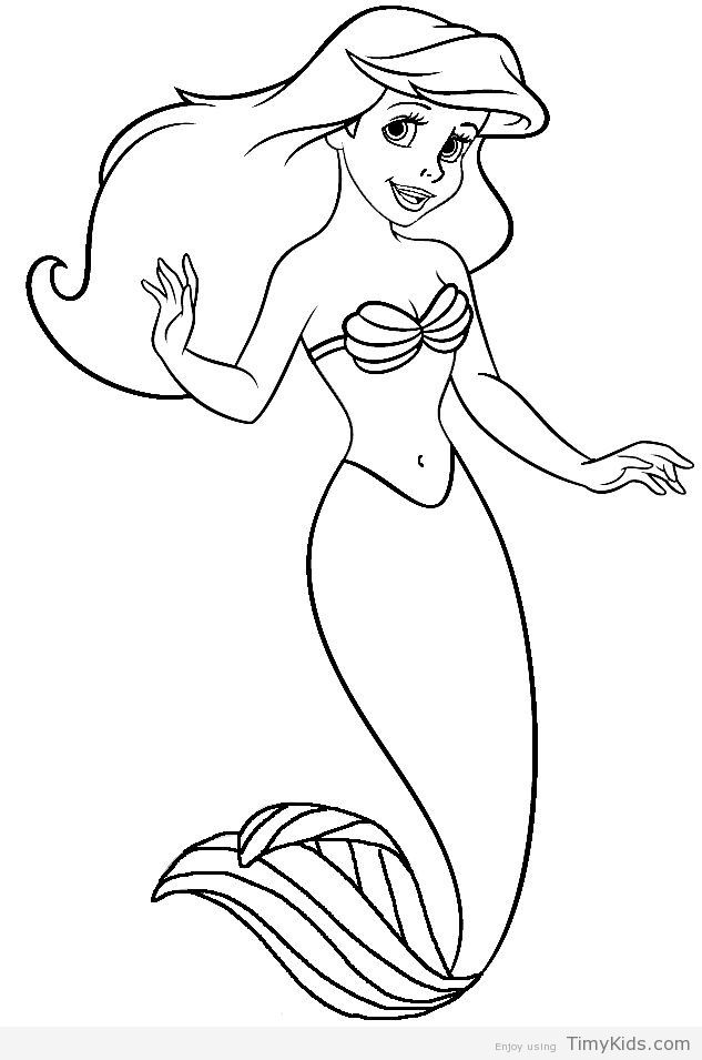 Ariel Little Mermaid Coloring Pages With Images Mermaid