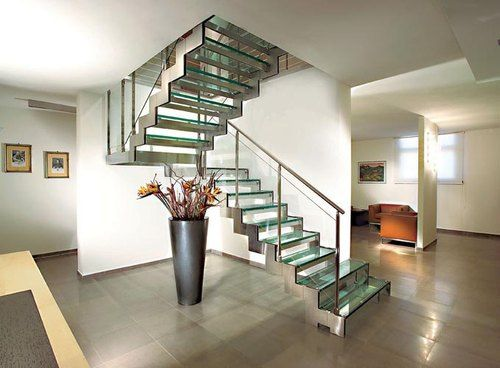 GLASS STAIR make an average house look contemporary and modern