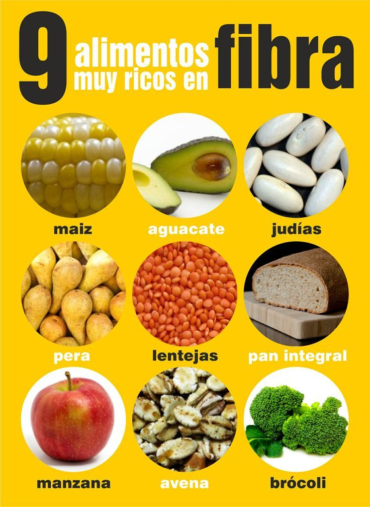 Comida fibra en receta de rica