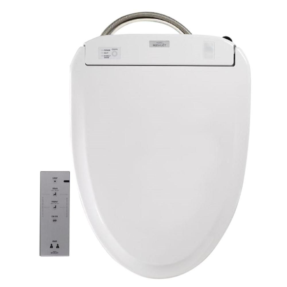 Toto S300e Electric Bidet Seat For Elongated Toilet With Ewater