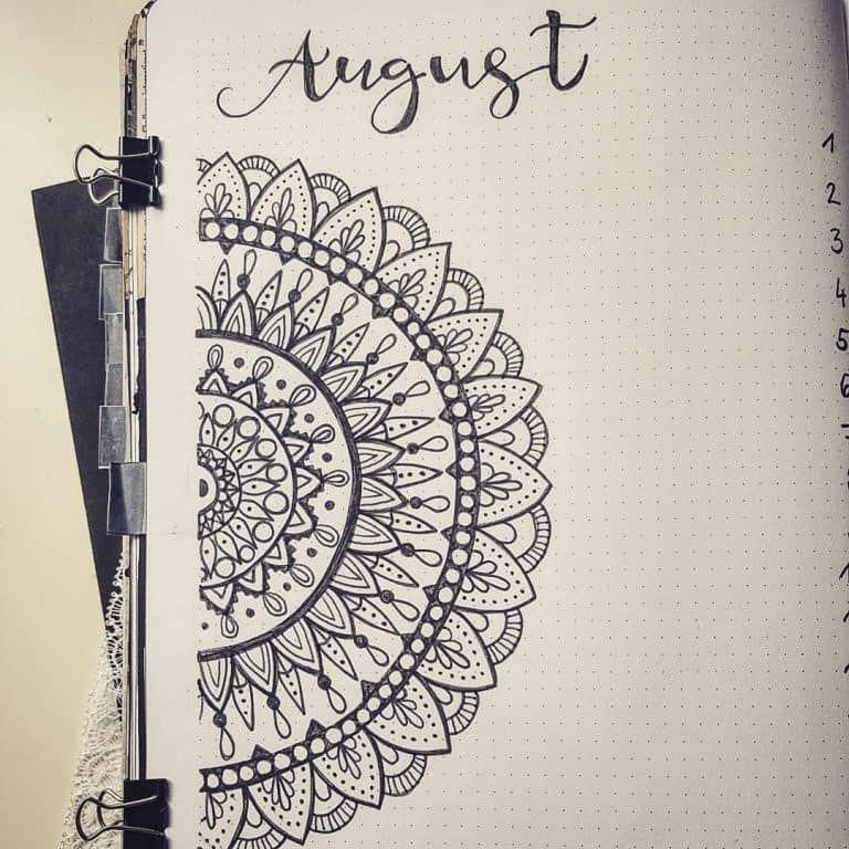 Mandala bullet journal ideas #bulletjournalideas #augustbulletjournal