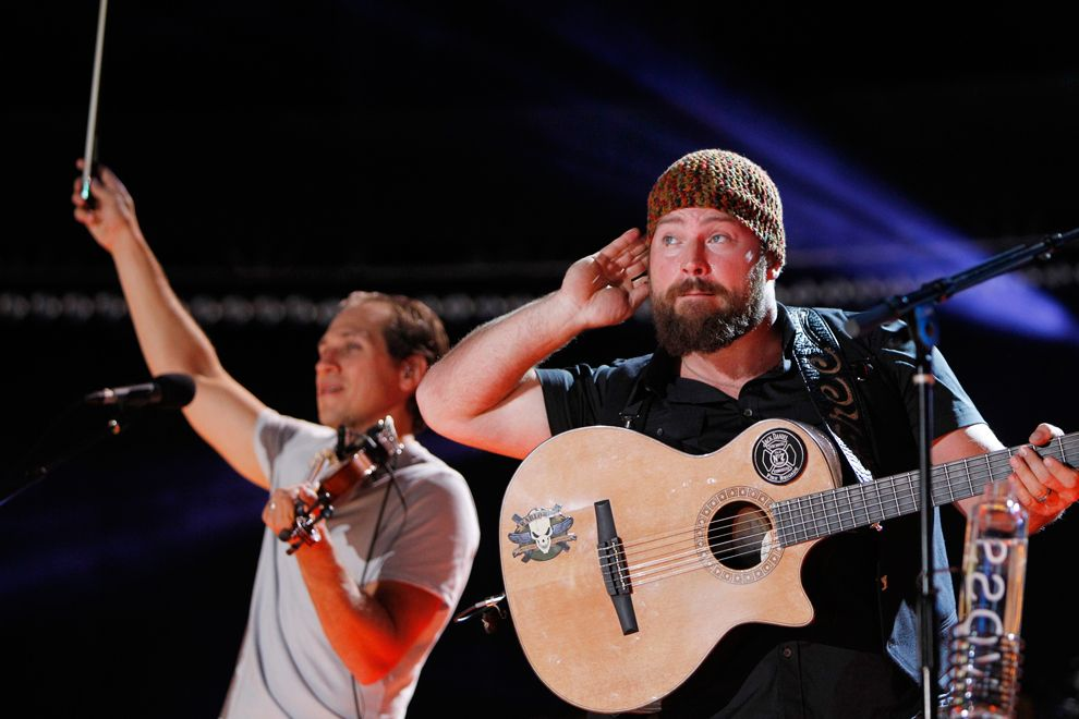 Zac Brown (right) and Jimmy De Martini of Zac Brown Band perform during the Country Music Association Music Festival in Nashville, Tenn. on June 7. (Harrison Mcclary/Reuters) #