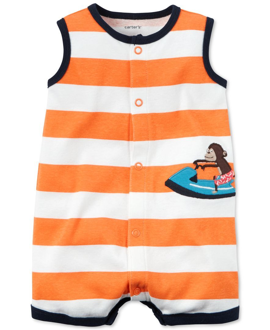 c1a76bee5a1a0 Carter's Baby Boys' Stripe Monkey Romper | Baby Boy Clothes | Niño ...