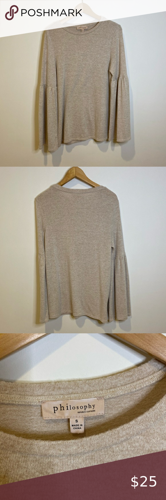 Anthro Philosophy Bell Sleeve Sweater Size S Bell Sleeve Sweater Bell Sleeves Sweater Sizes