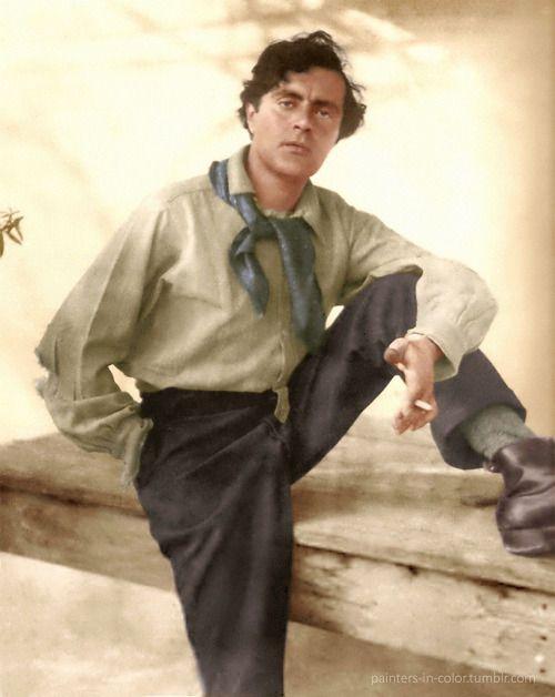 Amedeo Modigliani (1884-1920) Amedeo Clemente Modigliani (12 de Julho de 1884 - 24 de janeiro de 1920 ) foi um artista italiano que trabalhou principalmente na França . Primeiramente um artista figurativo, tornou-se conhecido para pinturas e esculturas em um estilo moderno caracterizado por rostos máscara-como e alongamento do formulário . Morreu em Paris da meningite tuberculosa , agravada pela pobreza , excesso de trabalho e dependência de álcool e narcóticos.