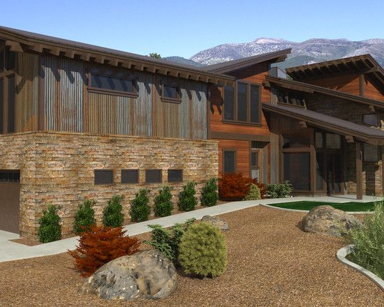 contemporary mountain house design