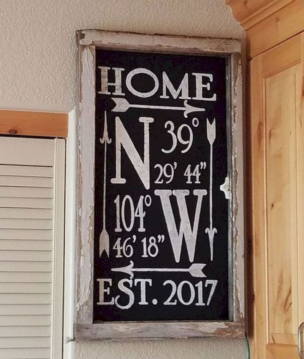 40 Cozy Wood Project Design Ideas Home decor signs, Home