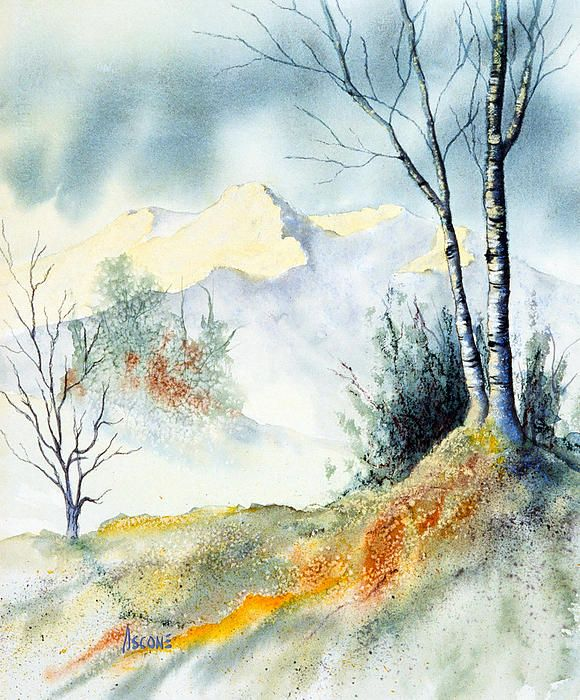Mountain View Landscape Prints Watercolor Landscape Landscape