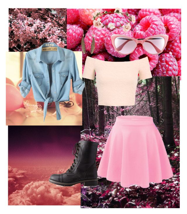 """""""Pink"""" by disneylover19 ❤ liked on Polyvore featuring Isaac Mizrahi, Miss Selfridge, Charlotte Russe, Accessorize and Wet Seal"""