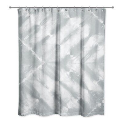Bungalow Rose Sonoma Shibori Pattern Shower Curtain Color Gray