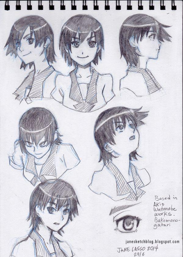 Práctica ángulos de la cara versión manga. Head Manga poses ...