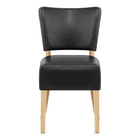 Wondrous Ramsay Oak Dining Chair Black Leather For The Home Black Customarchery Wood Chair Design Ideas Customarcherynet
